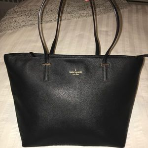 Kate Spade Lg Crosshatched Leather Tote w dustbag